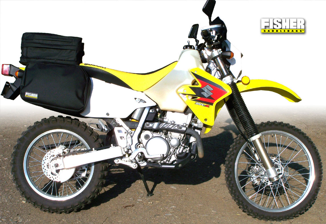 fisher saddlebags suzuki drz 400 seat rack luggage. Black Bedroom Furniture Sets. Home Design Ideas